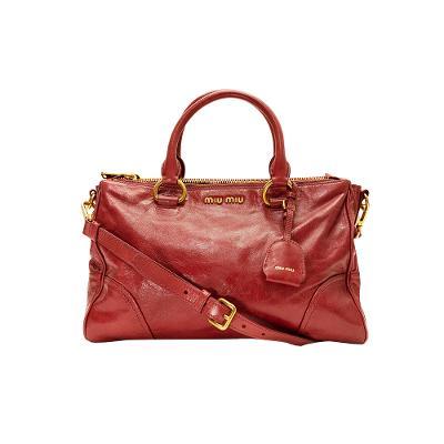gold hardware leather tote bag scarlet
